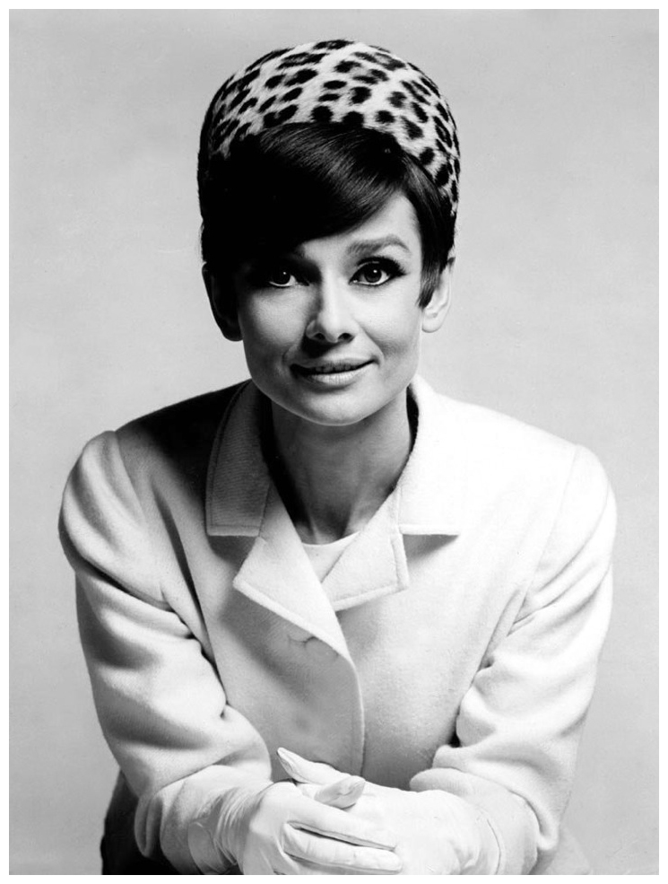 Audrey in Givenchy, Paris, November 1965. | � Pleasurephoto Room