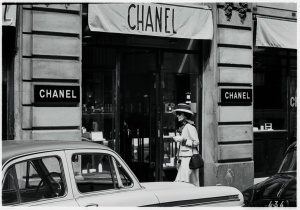 Chanel at the Chanel store in Paris Three Weeks:1962 by Douglas Kirkland