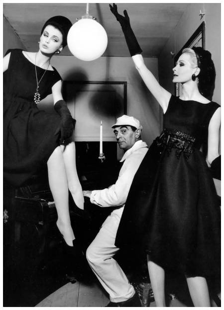 Dorothea McGowan and Sara Thom in Dior, with Little Bara, photographed for Vogue by WIlliam Klein