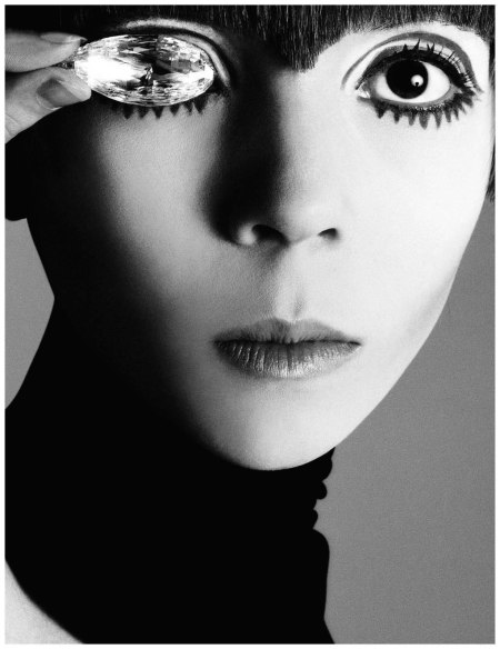 Penelope Tree, Briolette of India diamond hair by Ara Gallant, New York, July 8, 1967