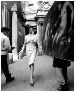 Photo William Klein Simone + Painting + Coffee, Rome (Vogue) 4:20, 1960
