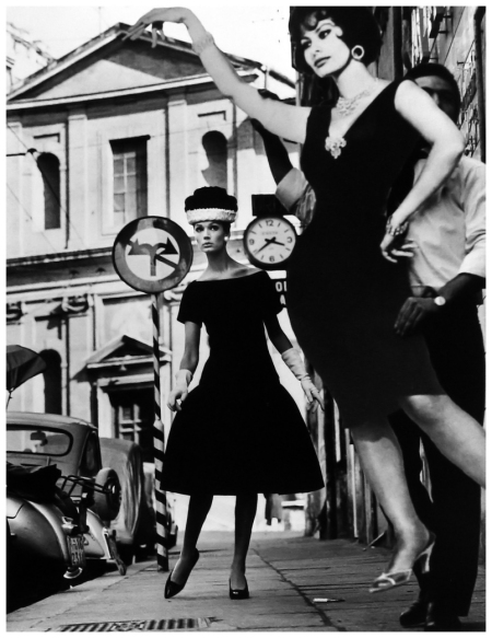 William Klein Simone + Sophia Loren, Rome (Vogue) 1960