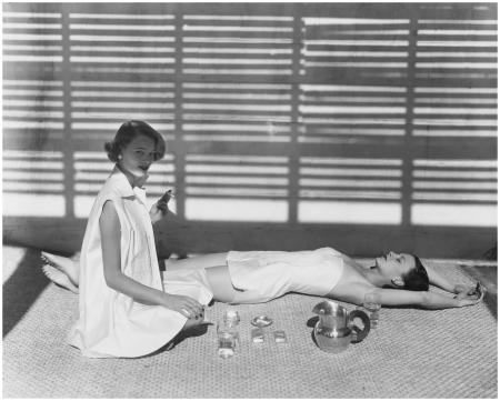 'Bombay Bathing Fashion, Oyster Bay, NY',1950 Photo Horst P.Horst