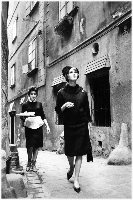 Fashion photo by Jeanloup Sieff for La Rinascente stores, Vienna, 1961