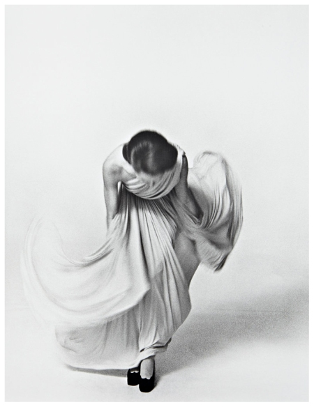 Louis Faurer - Bowing for the Vogue Collection, Paris , 1972