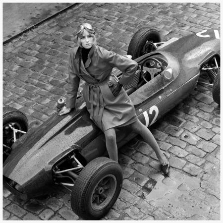 Photo Patrick Lichfield Jill Kennington With Lotus formula one - 1964 London