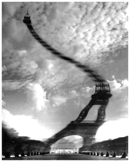 Photo Robert Doisneau Tour Eiffel Distorsion optique, 1965