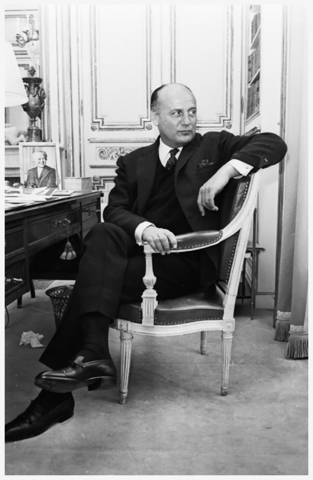 Pierre Balmain by Reg Lancaster on April 5, 1965