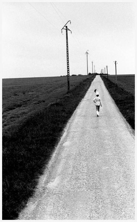 The Cheerleader Highway Pithiviers, France in 1973 Photo Robert Doisneau