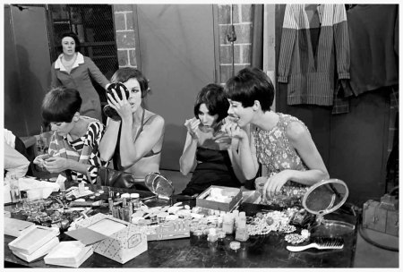 Photo Robert Walker\The NYT  1966 models prepeing for the coty award show at the metropolitan museum of art