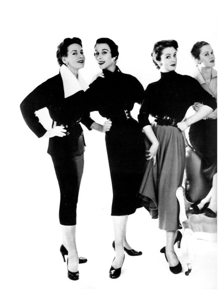 left to right Sylvia Shelley, Myrtle Crawford, Joan Burgess, Pat Squires, photo by John French for the Daily Express, April 8, 1952