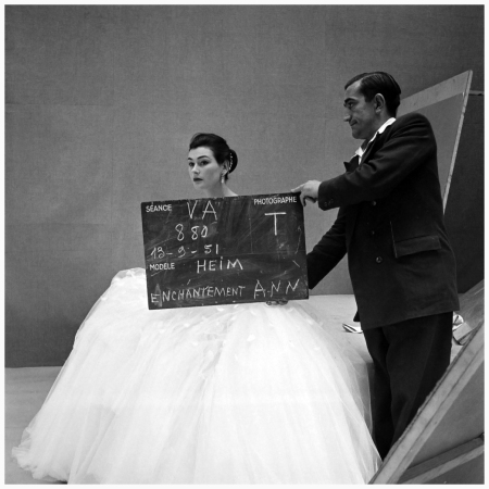 1951 Paris (studio Adam). Model Ann Nutting (Ann Gunning) and Maurice (assistant of Clarke). Photo Henry Clarke (1918-1996)