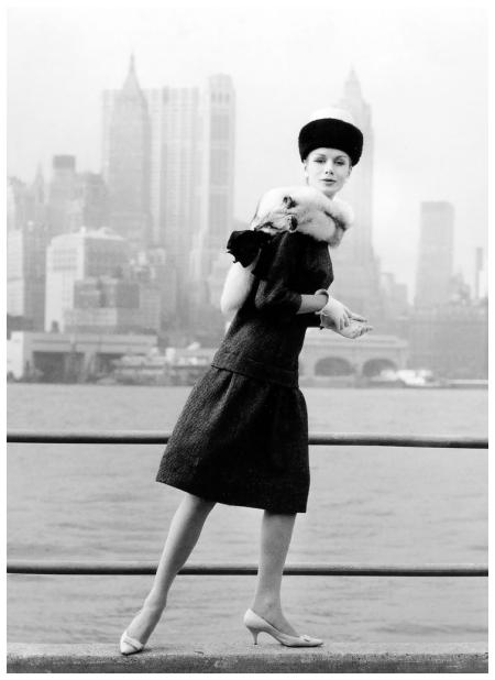 %22Kleiner Flirt mit Manhattan%22, model Lissy Schaper, New York , 1960