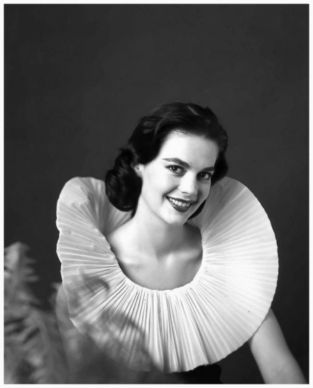 Actress Natalie Wood in Balenciaga, photo by Avedon for Vogue, June 1957