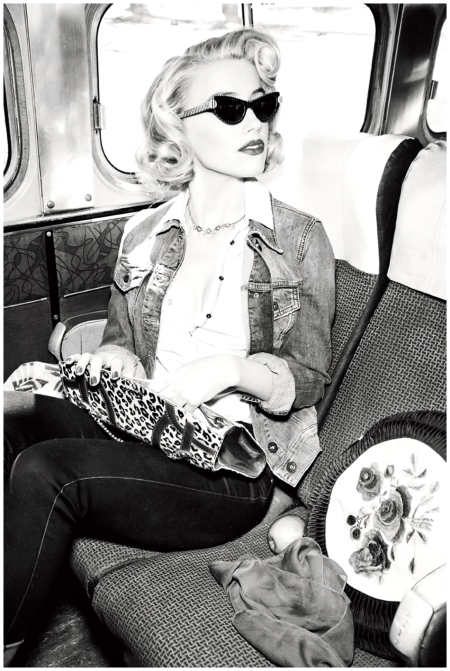 Amber Heard Photographed by Ellen von Unwerth for Guess Jeans Fall Ad Campaign 2011