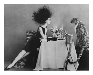 Dining with a Cheetah, November 1, 1960, Vogue