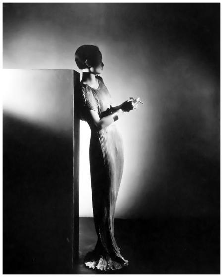 George Platt Lynes - Mai-Mai Sze in a Fortuny gown, 1934