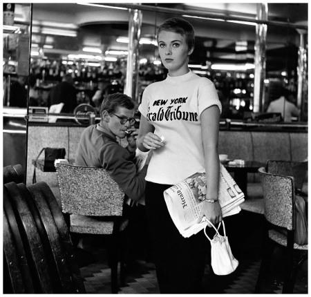 Jean Seberg in Jean-Luc Godard's 'À bout de souffle' (Breathless), photo by Raymond Cauchetier, 1960