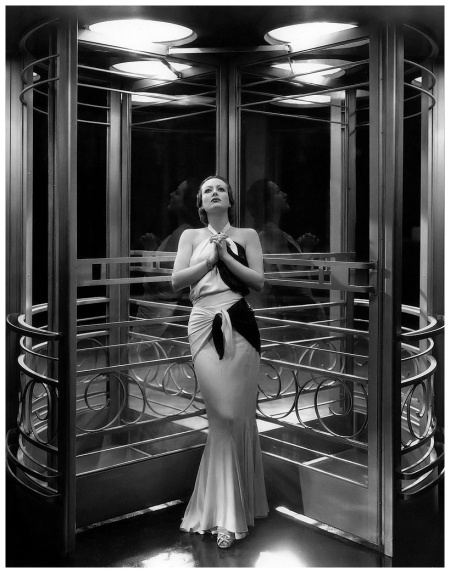 "Joan Crawford - in her famous ""Letty Lynton"" dress, photo by George Hurrell 1932"