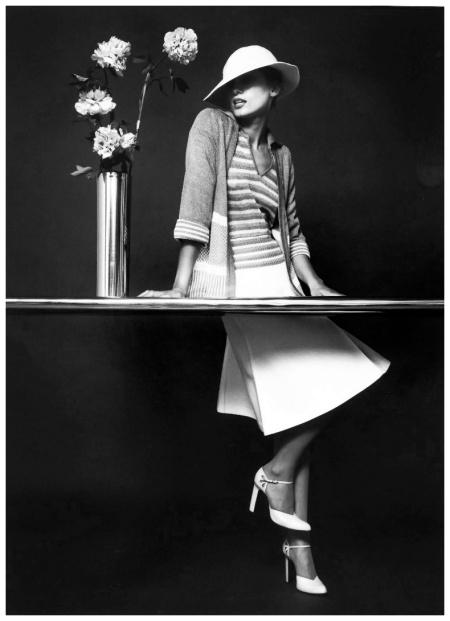 model Yvonne Goederman, client Italian Imports, studio shot, by Bruno Benini, Melbourne, Victoria, Australia, 1974