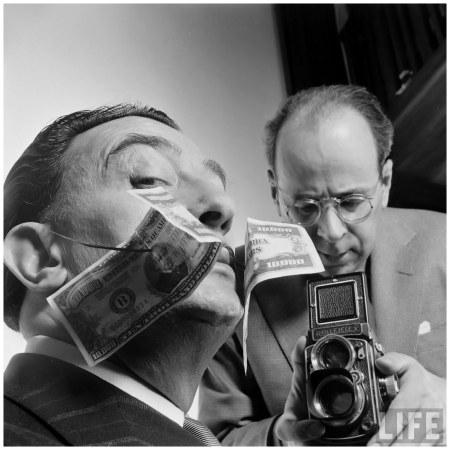 Phillipe Halsman Looks At Dali 1954 Yale Joel