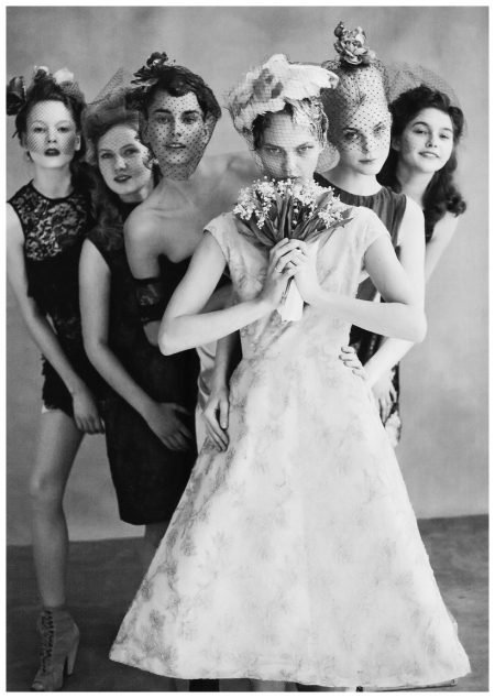 "Photo Arthur Elgort Sasha Pivovarova vogue us june 2009 ""the wedding party"""