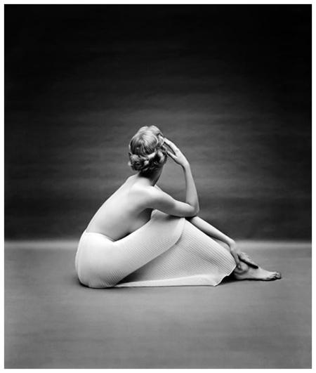 Photo by Mark Shaw Carmen Dell'Orefice 1950's