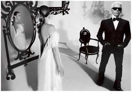 Photo Carter Smith Jennifer Lopez and Karl Lagerfeld 2008