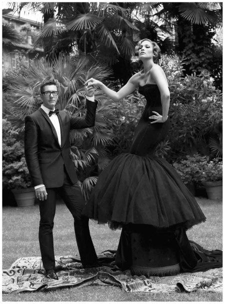 Photo Carter Smith Jennifer Lopez and Stefano Gabbana ELLE US 2008