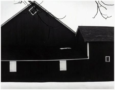 barn detail, winter 1954