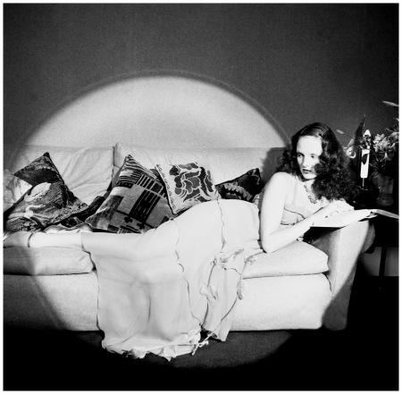 Photo Willie Christie Grace Coddington reclining, 1973