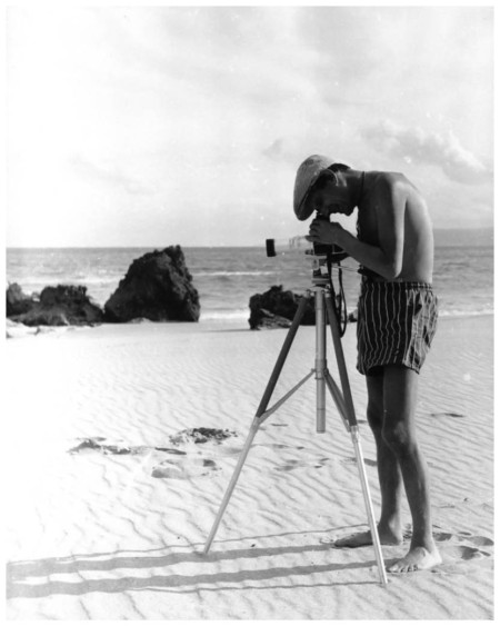 Photograph of Helmut Newton by Janice Wakely taken at Lorne, near Melbourne, 1959 Collection Powerhouse Museum