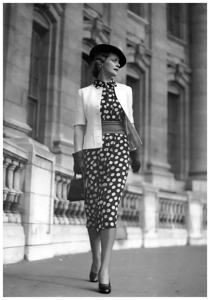Polka-dot Fashion London 1930's