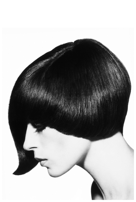 1964 - Model Danae Brooke shows of a classically asymmetric Vidal Sassoon style
