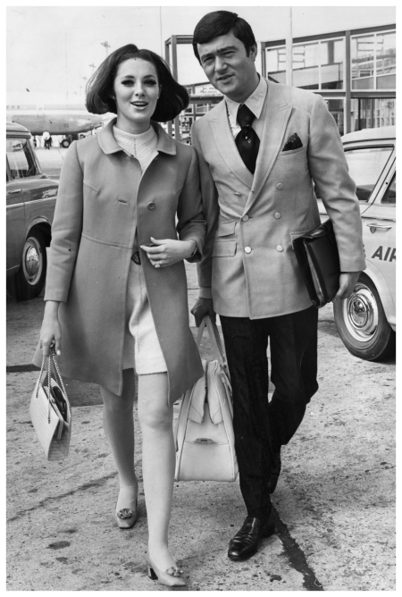 1967 - Sassoon with his second wife Beverly