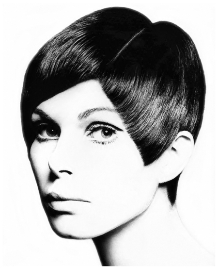 Acute angle cut, stylist Roger Thompson at Vidal Sassoon