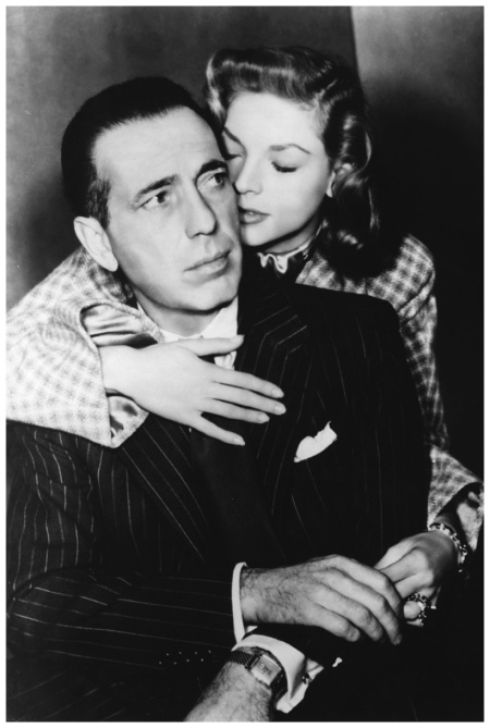 American actress Lauren Bacall and actor Humphrey Bogart on the set of Dark Passage, directed by Delmer Daves 1947 Sunset Boulevard:Corbis