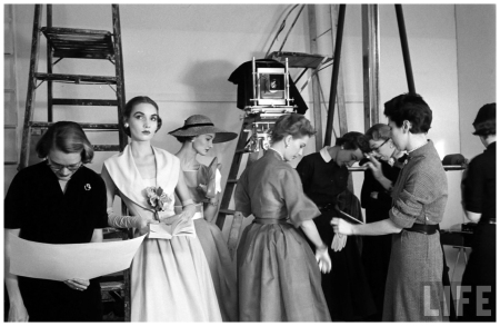 Backstage Model - Eliot Elisofon Shot 1952 Glamour Fashion Shot
