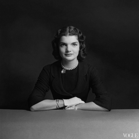 First Lady Jacqueline Bouvier Kennedy Photographed by Richard Rutledge, Vogue, August 15, 1951