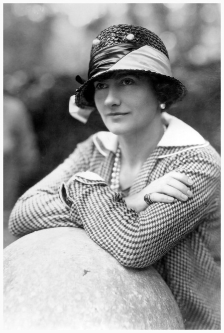 Gabrielle Chanel, known as Coco (1883 - 1971), top French couturier, at Fauborg, St Honore, Paris. (Photo by Sasha:Getty Images 1929