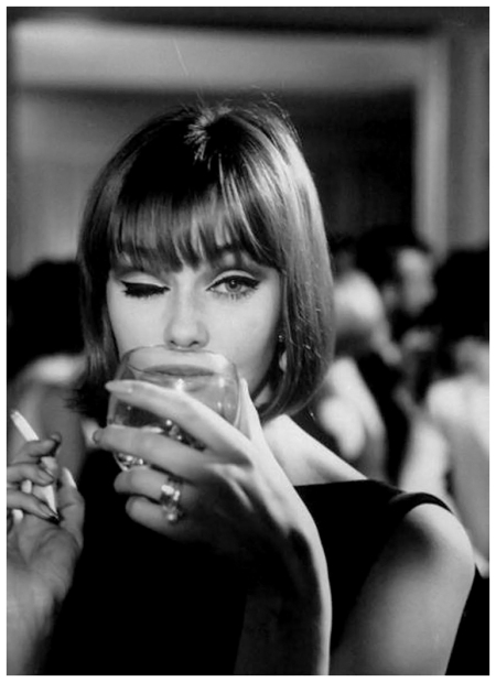 German fashion model, Ina Balke Photo by Ted Russell 1964