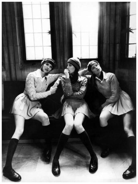 Linda Evangelista, Christy Turlington & Meghan Douglas 1994 Vogue Steven Meisel