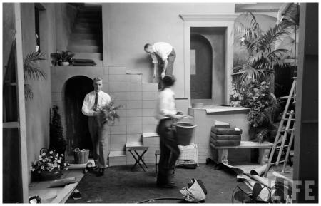 Man at Work on the set shot Eliot Elisofon January 1952 Glamour Fashion Shot