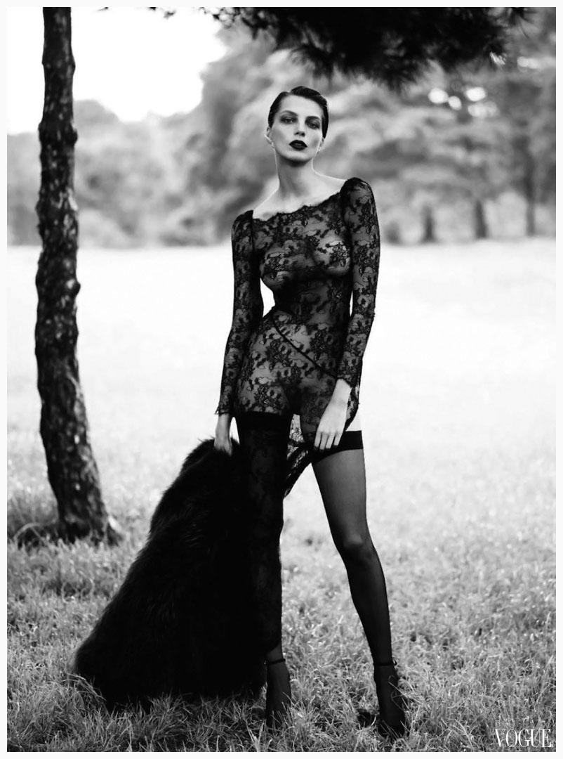 """Daria Werbowy Bob Daria Werbowy 2012 Vogue """"le"""