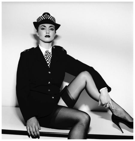 Policewoman, 1983, photo by Terence Donovan