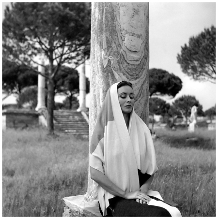 Gigi, photo by Georges Dambier, Ostia, Itlay, ELLE, June 16, 1952
