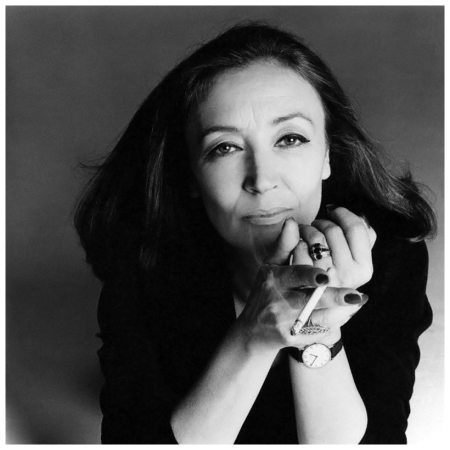 Italian journalist Oriana Fallaci holding a cigarette.Image by Francesco Scavullo 1980