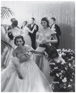 Jacqueline With her sister at a debutante ball in 1951 Photo Cecil Beaton