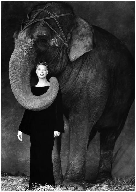 Linda Evangelista by Steven Meisel for Kenar F:W 1994:1995 Campaign