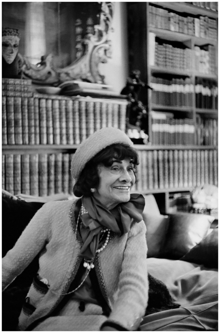 Mademoiselle Chanel in her apartment 31 rue Cambon by Cartier-Bresson 1964